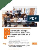 Pasar Mucho Tiempo Sentado Está Detrás Del 4% de Las Muertes en El Mundo - RTVE