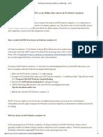 SAP Business Warehouse (BW) as an Offline Data