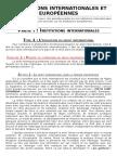 Institutions Internationales Et Européennes