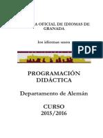 Programación Aleman 2015 2016
