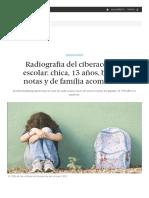 Radiografía Del Ciberacosado Escolar_ Chica, 13 Años, Buenas Notas y de Familia Acomodada