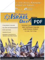Israel Day Flyer Sunday June 6-10