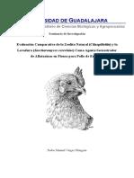 Evaluación Comparativa de La Zeolita Natural