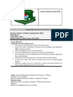 Research Methodology Course Outline