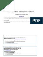 List of Translators and Interpreters in Indonesia