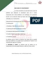 Unidad IV Objetivo II Phrases Used at a Restaurant