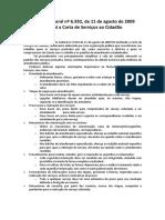 Lei Federal 6932 Carta de Servicos