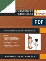 Cambios en La Pubertad y Adolescencia y Abordaje de Conflictos