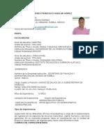 Andres Francisco Aguilar Gómez - Curriculum
