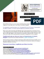 2 - REPERTORIO DUO Boda, Cocktail y Banquete Violín y Piano