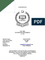 CSC 409L - System Programming - Lab Manual - Copy