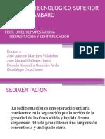 Sedimentación Centrifugación Equipo 4