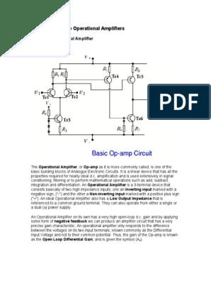 شرح الكترونيات 1 Amplifiers | Operational Amplifier | Amplifier