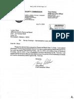 Jefferson County Trimmier termination documents