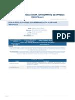 Perfil Competencia Auxiliar Administrativo de Empresas Industriales