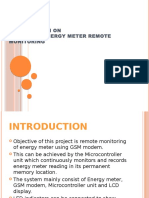 Presentation on GSM Based Energy Meter