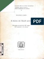 Eugenio Garin - Il Ritorno Dei Filosofi Antichi