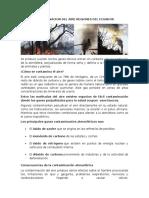 Contaminacion Del Aire Regiones Del Ecuador