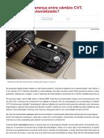 Você Sabe a Diferença Entre Câmbio CVT, Automático e Automatizado_ - Carros