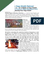 2017 Ganga Yoga Shakti Retreat Information