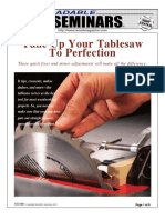 Table Saw Tuneup
