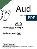 aud- word study sept 19-23