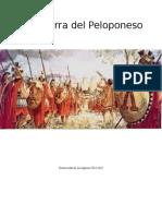 Trabajo sobre La Guerra del Peloponeso