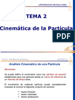 TEMA No. 2-CINEMATICA DE LA PARTICULA.ppsx