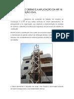 Canteiro de Obras e a Aplicação Da Nr 18 Na Construção Civil