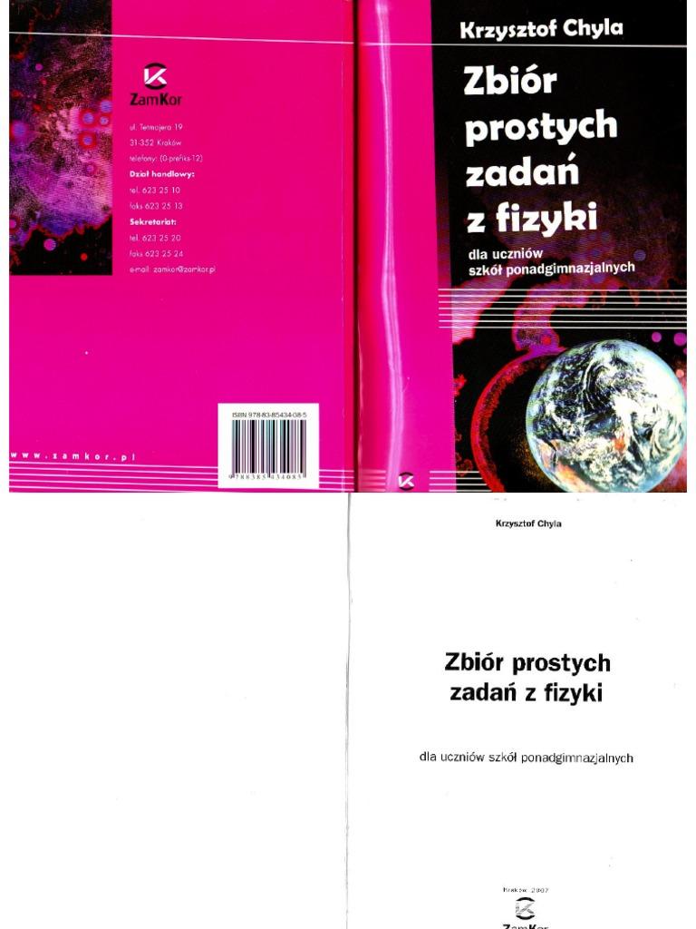 chyla zbiór prostych zadań z fizyki pdf chomikuj