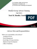 Advisor Training 11 Main Session