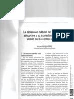 DIMENSION CULTURAL DEL DERECHO A LA EDUCACIÓN