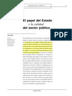 Vito Tanzi - El papel del Estado y la calidad del sector público