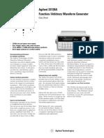HP 33120A Data Sheet #5968-0125EN