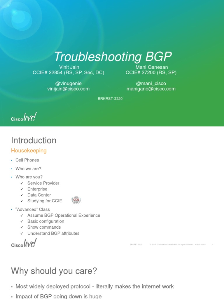 Brkrst-3320 Bgp Cisco Live | Multiprotocol Label Switching