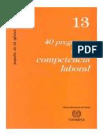 40 Preguntas Sobre Competencia Laboral 1