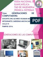 Generaciones de Computadoras Sandra