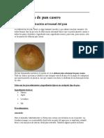 Elaboración de Pan Casero