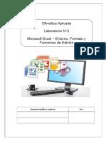 04 - Excel Formatos de Celda, Funciones de Edición.doc