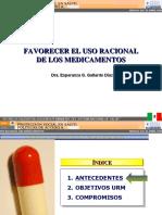 Favorecer Uso Racional Medicamentos-Mexico-Esperanza Gallardo