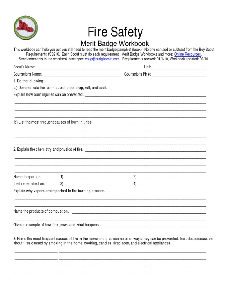 Cooking merit badge worksheet answers 2014
