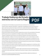 21-09-16 Trabaja Gobierno del Estado de manera estrecha con la Cuarta Región Naval. -Crítica