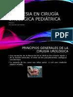 Anestesia en Cirugía Urológica Pediátrica