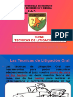 Tecnicas de Litigacion Oral - Copia