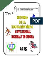 Historia Mundial, Nacional y Local de La e.f.