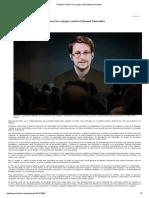 NYTimes. Retiren Los Cargos Contra Edward Snowden