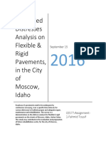 A Detailed Distresses Analysis on Flexible & Rigid Pavements, In the City of Moscow, Idaho by Fahmid Tousif