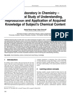 G - Virtual Laboratory in Chemistry – Experimental Study of Understanding, Reproduction and Application of Acquired Knowledge of Subject's Chemical Content