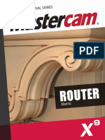SAMPLE MastercamX9 Router TrainingTutorial Metric