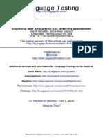 Listening Brindley Slayter 2002 Exploring Task Difficulty in Esl Listening Assessment